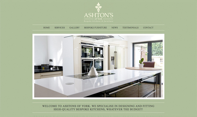 Website Design For Ashton 39 S Of York Affordable Web Design