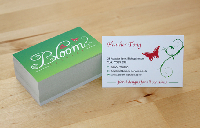 400gsm double sided business cards with matt laminate