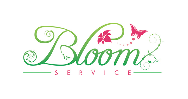 Floral logo design for York florist bloom service