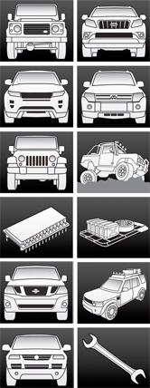 website icons we designed for prospeed motor sport