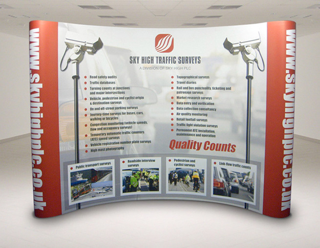 an exhibition stand we design for sky high traffic