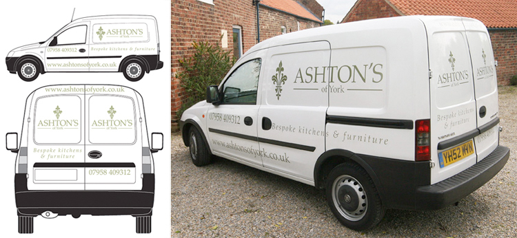 van graphics and vehicle livery designers in york