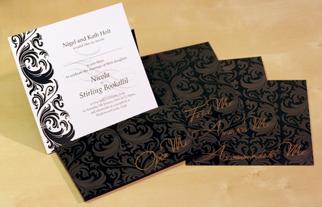 Bespoke wedding stationery we designed for York Couple